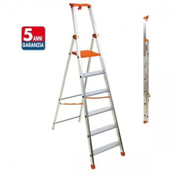 PIU SU scala in alluminio doppia professionale e domestico