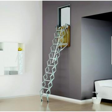 Scala retrattile zincata a parete verticale - Scale a botola da soffitto ...