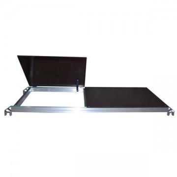 Piano di lavoro in alluminio 51x143 per Pinna,Clic,Clac,Allumet