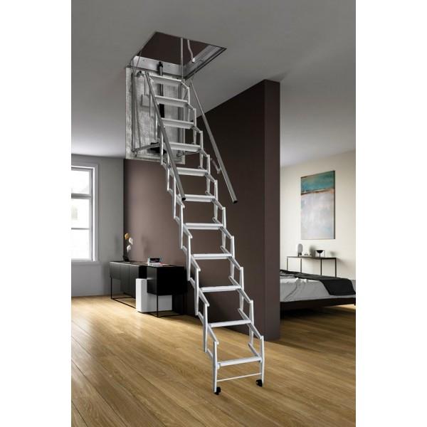 Scala retrattile motorizzata elettrica for Escaliers escamotables