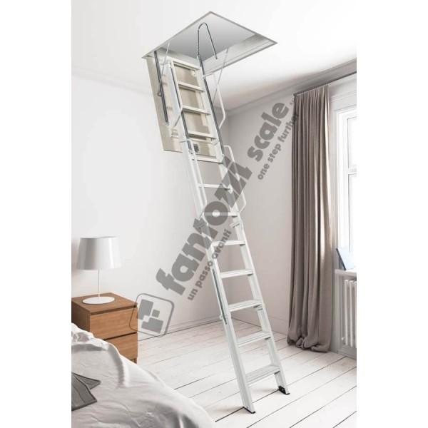 Scala retrattile per soffitta aci quattro in acciaio for Scala per soffitta