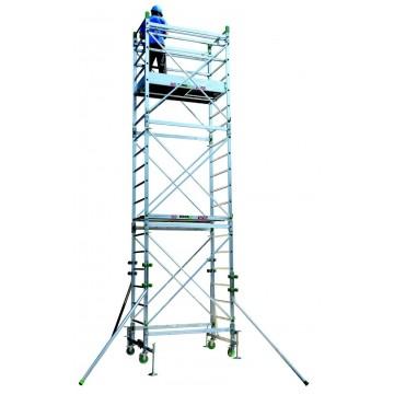 Trabattello in alluminio DOGE 65 H. da 4.30 a 10.30 Mt.