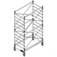 Trabattello in alluminio DOGE 80 H. 4.40 mt Lavoro ( solo struttura)