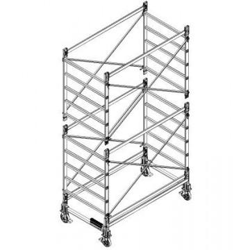 Trabattello in alluminio DOGE 80 H. 4.40 mt Lavoro