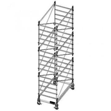 Trabattello in alluminio DOGE 80 H. 5.90 mt Lavoro