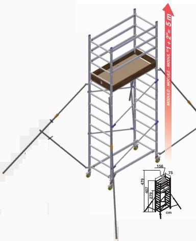 trabattello alto modulo base + alzata