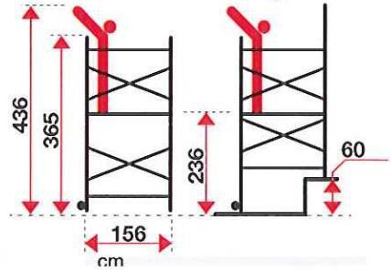 misure trabattello in alluminio pinna clic