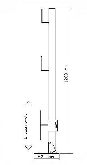 disegno tecnico parapetto MH 22