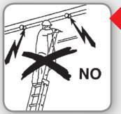 Scala linea elettrica in vetroresina