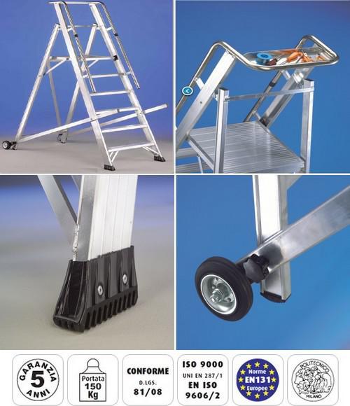 Immagini della scala vera svelt in alluminio