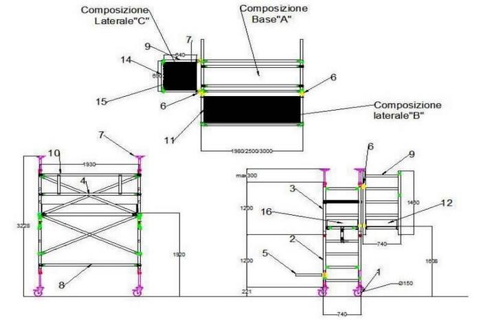 scheda trabattello a balcone in alluminio