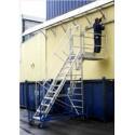 Telescopic turret ladder