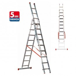 GENIA aluminum ladder with extension scissors
