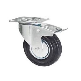 Swivel wheel with 150 mm brake.