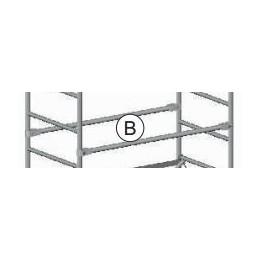 Horizontal parapet (B) for Roller scaffolding