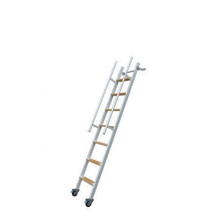 Mezzanine ladder in iron with wheels Mod. SSPXL