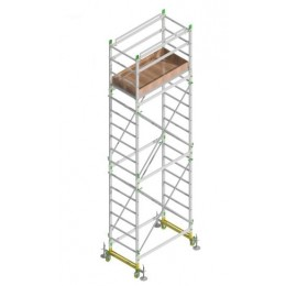 Aluminum scaffold ALUMITO MAXI H. 6.30 Mt. Working