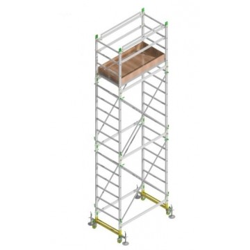 Aluminum scaffold ALUMITO MAXI H. 6.30 Mt. Work