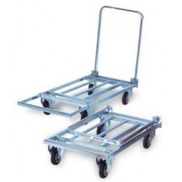 EXTENDABLE PLATFORM GALVANIZED WAREHOUSE TROLLEY