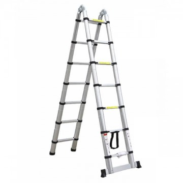 Telescopic ladder folding aluminum rings
