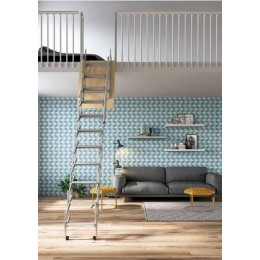 RETRACTABLE LADDER FOR MEZZANINE