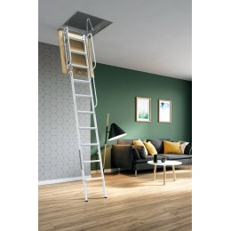 Retractable ladder with 4 elements painted