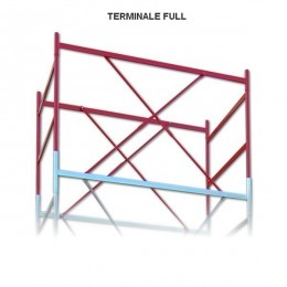 Terminal railing for FULL scaffolding