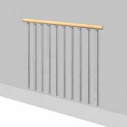 BALUSTRADE FOR MEZZANINE OR RETRACTABLE STAIRS