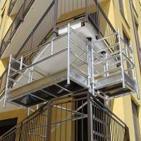 Trabattello a balcone in alluminio da 2 2.5 e 3 mt.