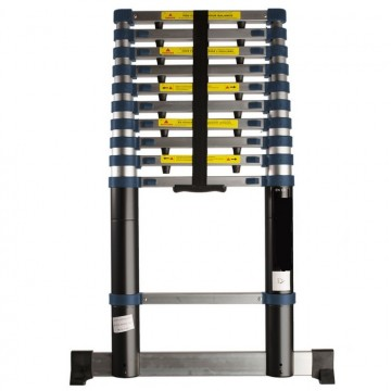 Telescopic ladder from 2 to 3.80 m in aluminum