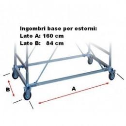 Plus base for MAXI TRIS scaffolding