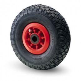 Pneumatic wheel with nylon rim