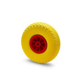 Solid rubber wheel with nylon rim