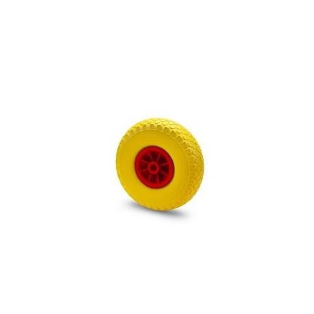 Ruota in gomma piena con cerchio in nylon