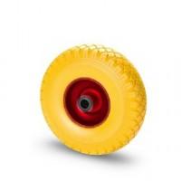 Ruota in gomma piena con cerchio in metallo e supporto piastra fisso zincato