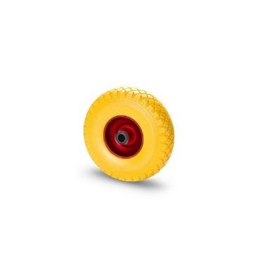 Ruota in gomma piena con cerchio in metallo