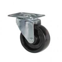 Ruota in resina termoindurente con supporto piastra rotante zincato