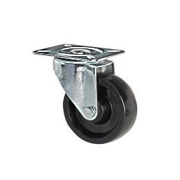 Wheel in thermosetting resin with stainless steel rotating plate support