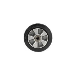 Elastic rubber wheel