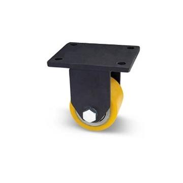 Rouleau pour transpalette en acier et polyuréthane avec support de tôle extra-lourd fixé