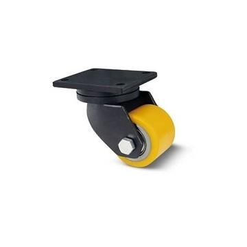 Rouleau pour transpalette en acier et polyuréthane avec support de plateau tournant extra lourd