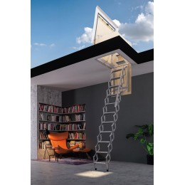 RETRACTABLE TERRACE LADDER IN GALVANIZED IRON