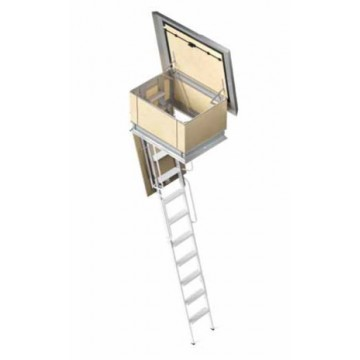 RETRACTABLE TERRACE LADDER IN IRON WITH 4 ELEMENTS