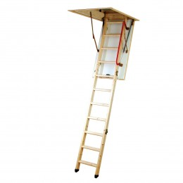 FOLDING WOODEN LADDER FOR CEILING ECO 'S' LINE