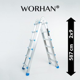 MULTIFUNCTION TELESCOPIC LADDER. 5.87M