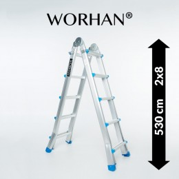 MULTIFUNCTION TELESCOPIC LADDER. 5.3M