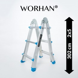 MULTIFUNCTION TELESCOPIC LADDER. 3.02M