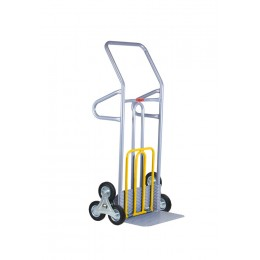 ALUMINUM TROLLEY FOR BARRELS OR CYLINDERS, CAPACITY 120 KG.