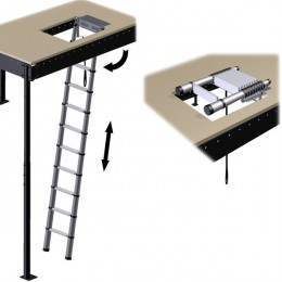 Retractable telescopic ladder LOFT mini LOFT