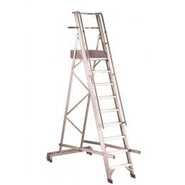 Aluminum staircase with parapet Castellana